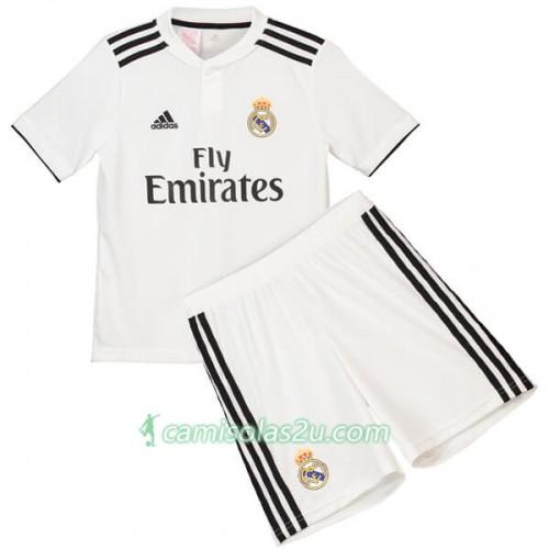 e1f9dc3caf1 Camisolas de futebol Real Madrid Criança Equipamento Principal 2018 19 Manga  Curta