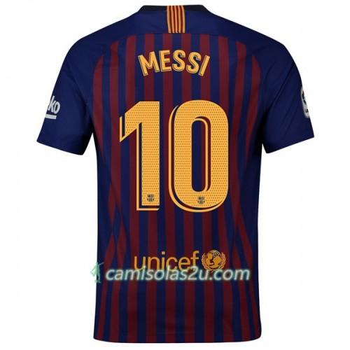 7f4b572e6d1 Camisolas de Futebol FC Barcelona Messi 10 Equipamento Principal 2018 19  Manga Curta