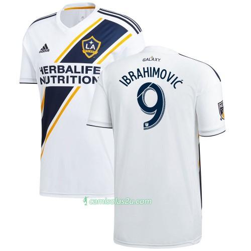 35c96df45 Camisolas de Futebol Los Angeles Galaxy Zlatan Ibrahimovic 9 Equipamento  Principal 2017 18 Manga Curta