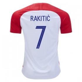 Camisolas de Futebol Croácia Ivan Rakitic 15 Equipamento Principal Copa do Mundo 2018 Manga Curta