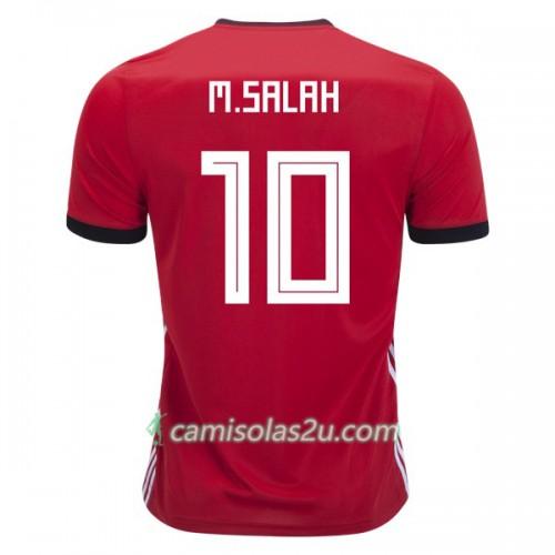 0c9dabb9e7 Camisolas de futebol Egito M.Salah 10 Equipamento Principal Copa do Mundo 2018  Manga Curta