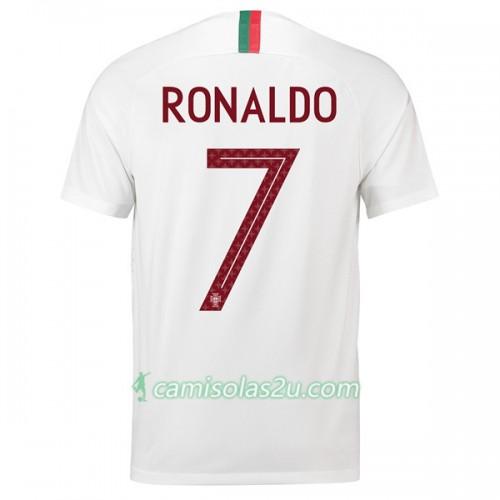 a06af7fcdf Camisolas de futebol Portugal Ronaldo 7 Equipamento Alternativa Copa do Mundo  2018 Manga Curta