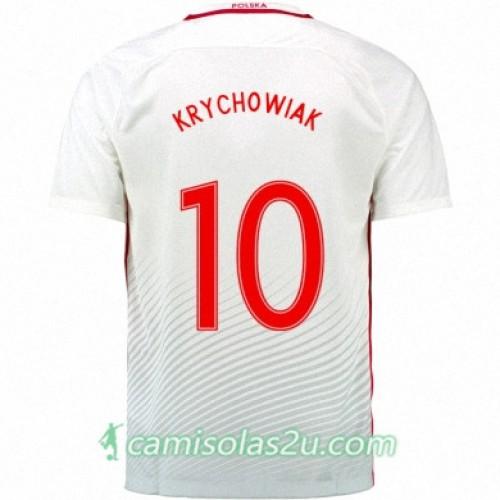 Camisolas de Futebol Polônia GRZEGORZ KRYCHOWIAK Equipamento Principal Euro 2016