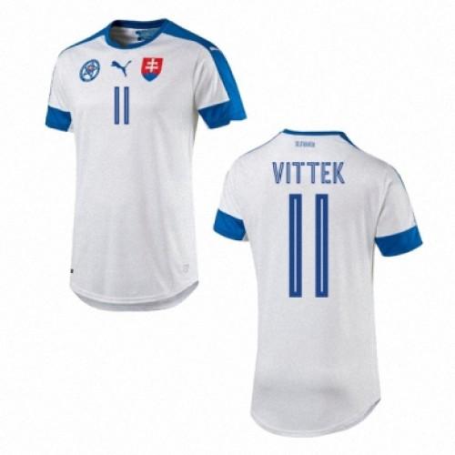Camisolas de Futebol Eslováquia ROBERT VITTEK Equipamento Principal Euro 2016