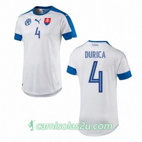 Camisolas de Futebol Eslováquia JAN DURICA Equipamento Principal Euro 2016