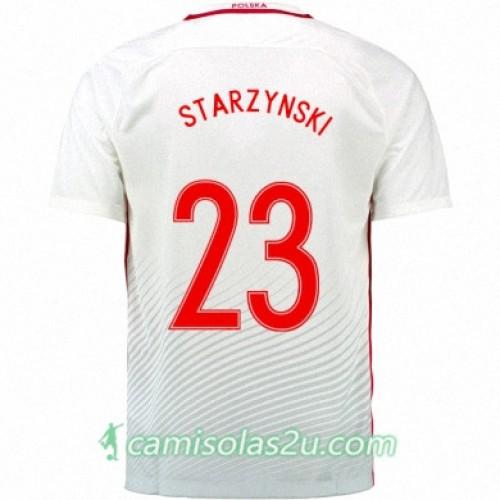 Camisolas de Futebol Polônia FILIP STARZYNSKI Equipamento Principal Euro 2016