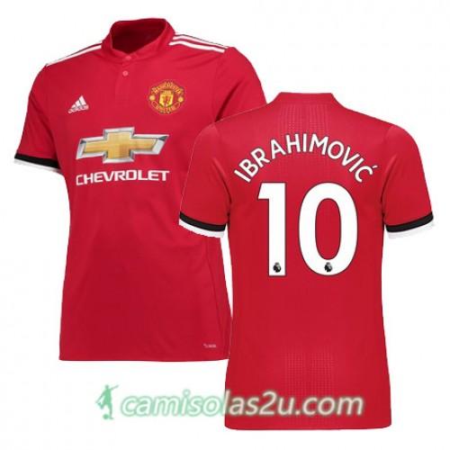 18 Ibrahimovic Principal Curta Manga United Futebol Manchester Camisolas 2017 10 De Equipamento