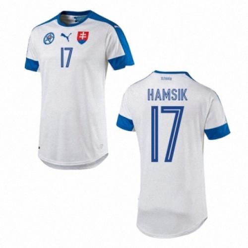 Camisolas de Futebol Eslováquia MAREK HAMSIK Equipamento Principal Euro 2016