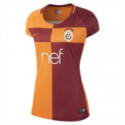 Camisolas de Futebol Galatasaray Mulher Equipamento Principal 2017/18 Manga Curta