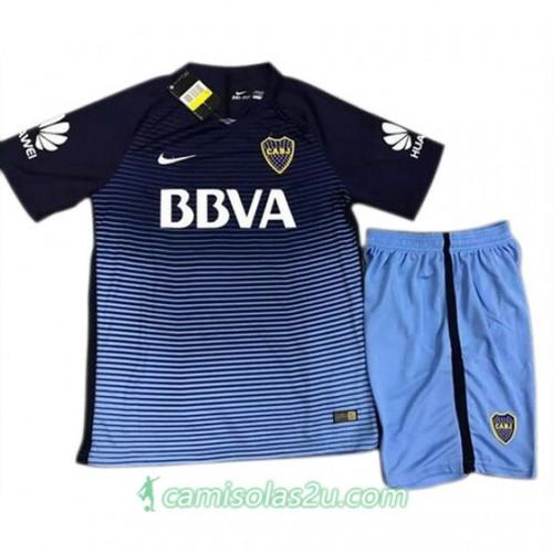 Camisolas de Futebol Boca Juniors Equipamento 3ª Criança 2017/18 Manga Curta