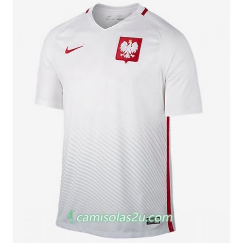 Camisolas de Futebol Polônia Equipamento Principal Euro 2016
