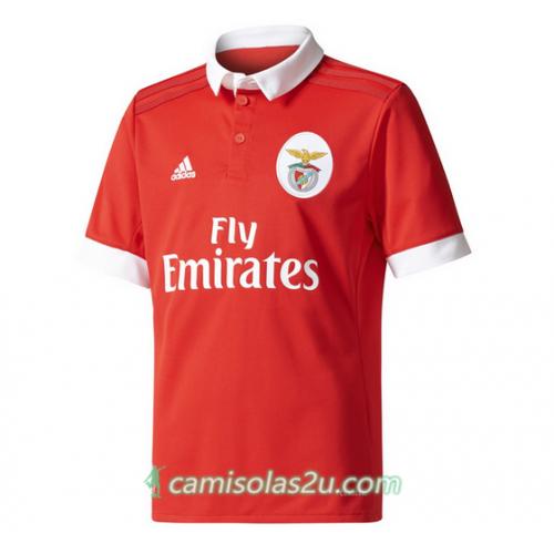 Camisolas de Futebol Benfica Equipamento Principal 2017/18 Manga Curta
