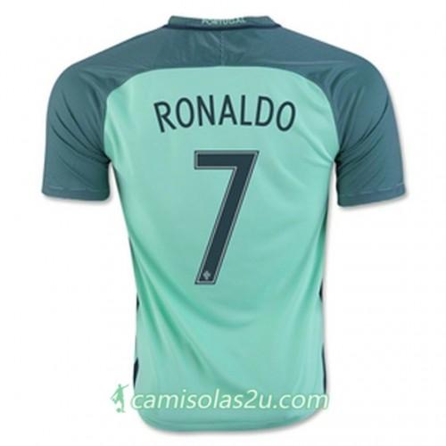 Camisolas de Futebol Portugal RONALDO Equipamento Alternativa Euro 2016