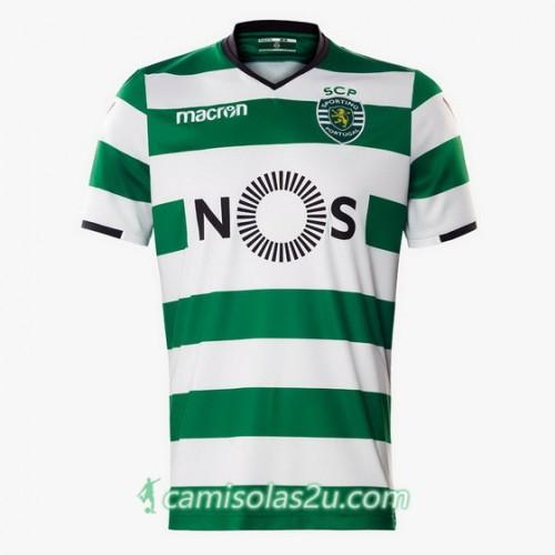 Camisolas de Futebol Sporting Equipamento Principal 2017/18 Manga Curta