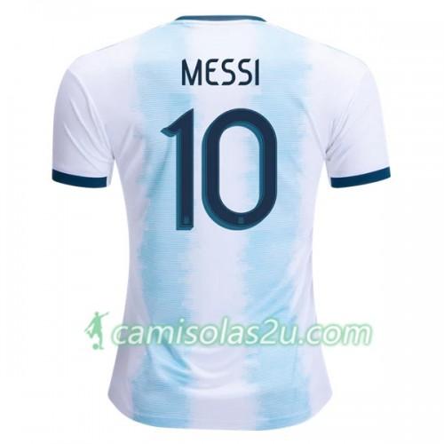 5444428a3a8 Camisolas de Futebol Argentina MESSI 10 Equipamento Principal Copa América 2019  Manga Curta